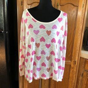 Lane Bryant Lightweight Heart Print Sweater